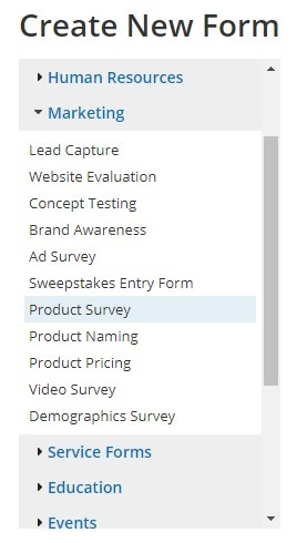 Formsite survey templates new form
