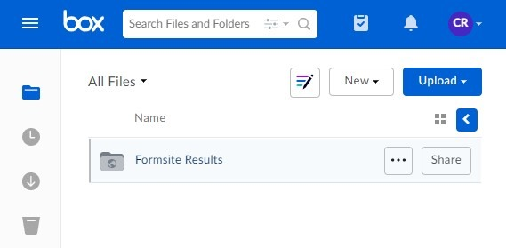 Formsite send results documents to Box folder