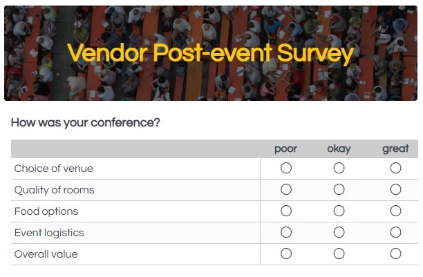Formsite form templates conference