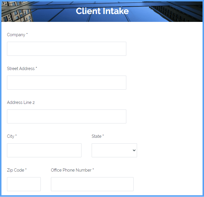 Client Intake Templates