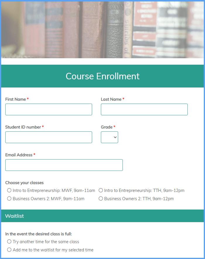 Course Enrollment Templates