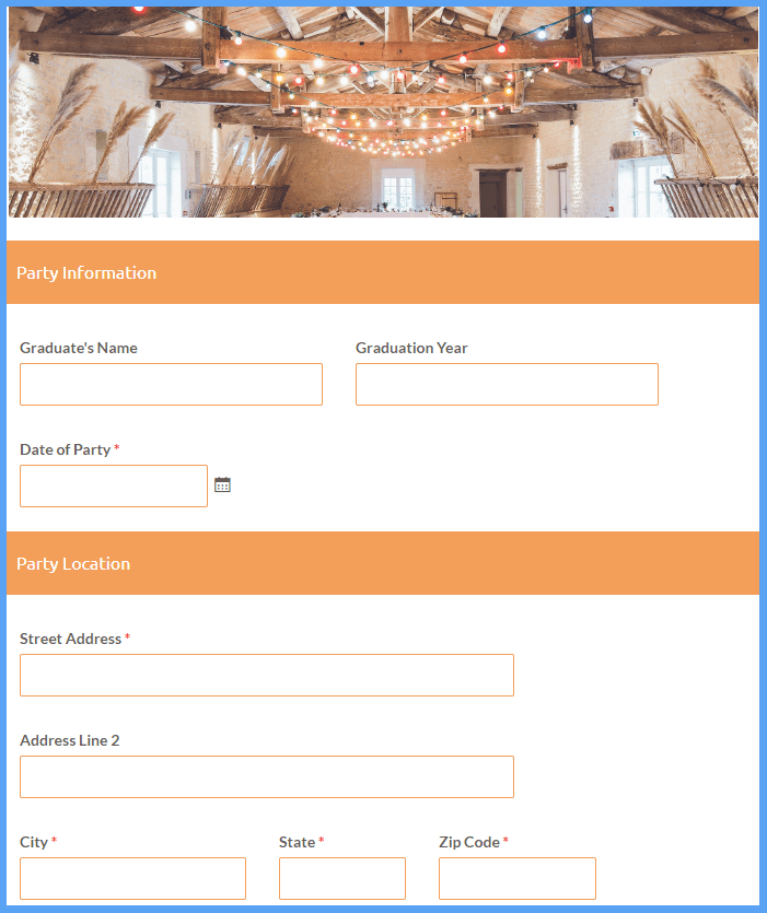 Event Service Order Form Templates