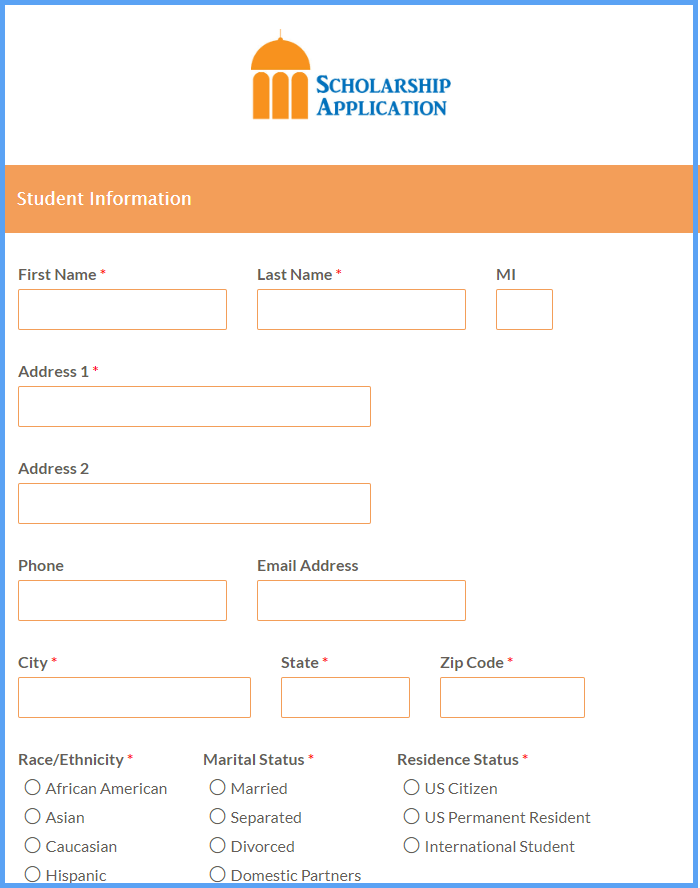 Scholarship Application Templates