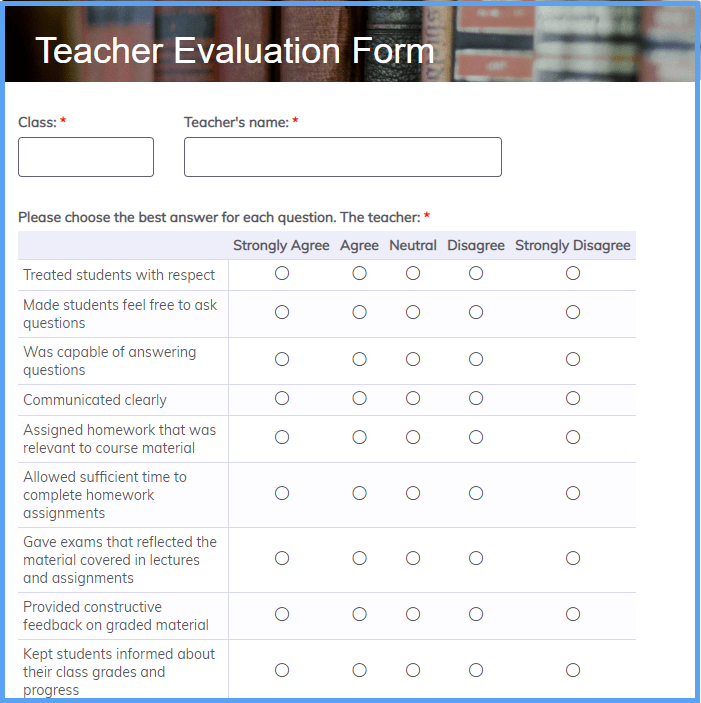 Teacher Evaluation Templates