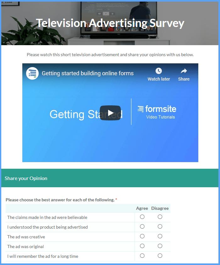 Video Survey Templates