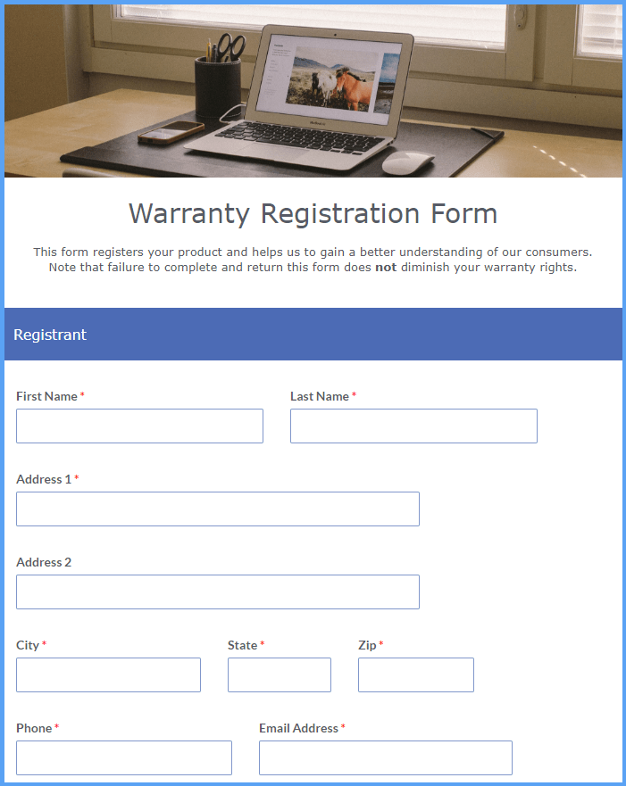 Warranty Registration Form Templates