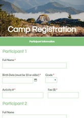 Activity Registration Form