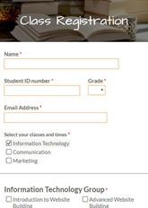 Class Registration Form