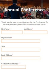 Conference Signup Form