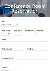 Conference Room Reservation Form