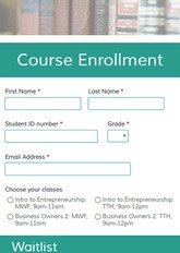 Course Enrollment Form