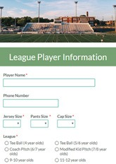League Signup Form