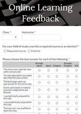 Online Learning Feedback Form