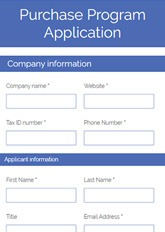 Purchase Program Application Form