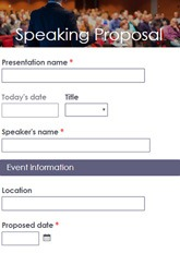 Speaking Proposal Form