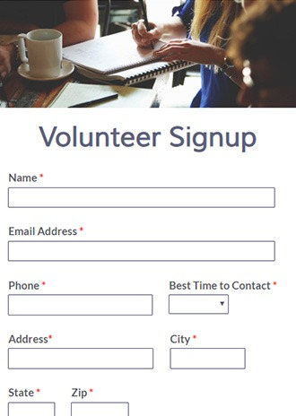 Volunteer Forms Template from www.formsite.com