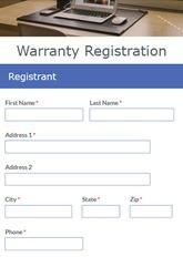 Warranty Registration Form