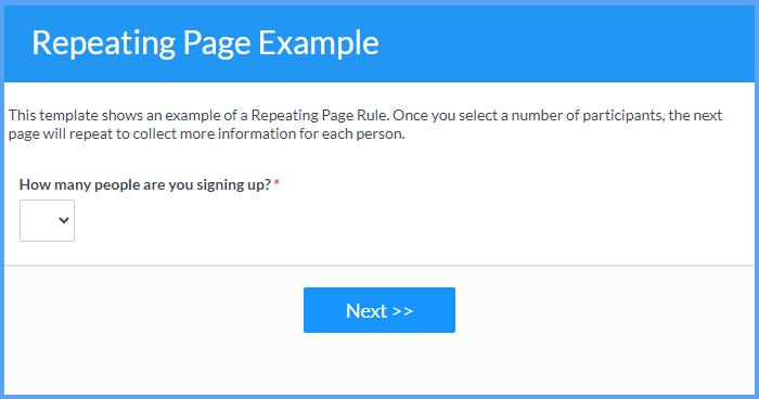 Repeating Pages Example Templates