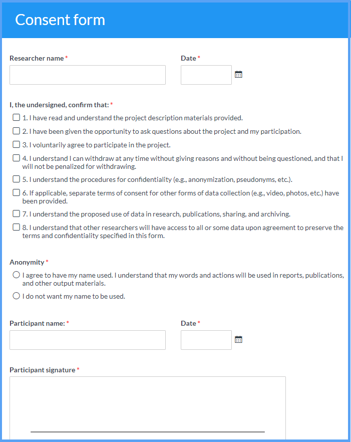 Consent Form Templates