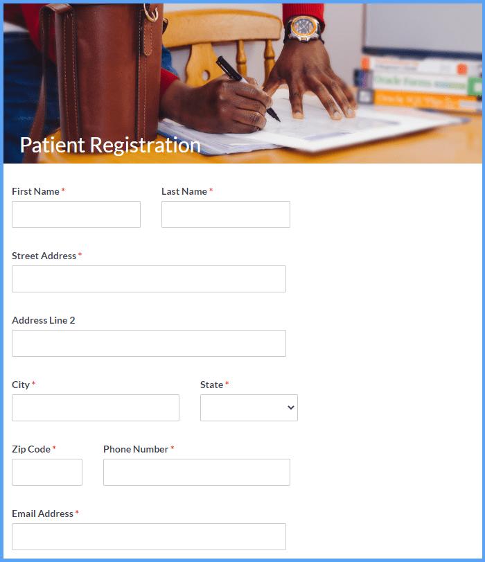 Patient Registration Templates