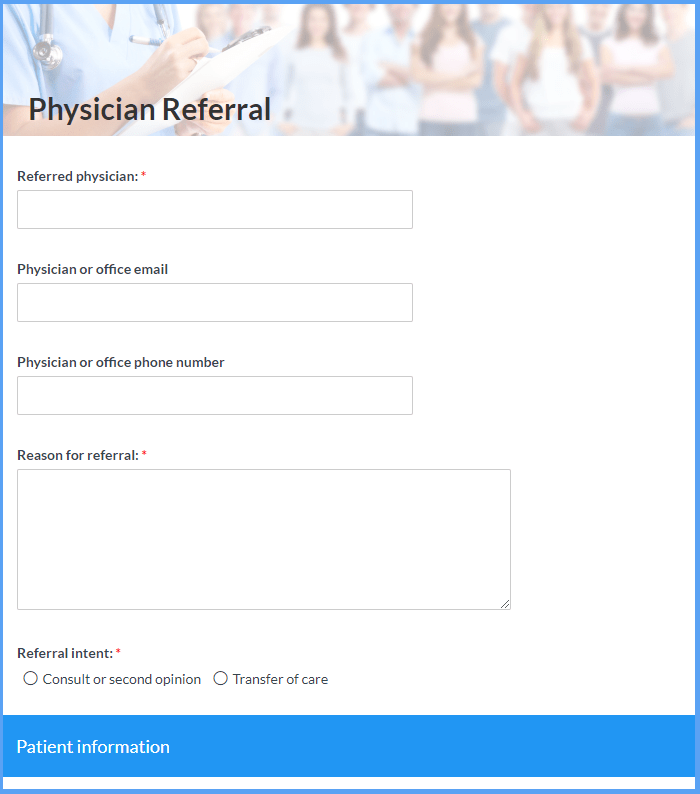 Physician Referral Templates
