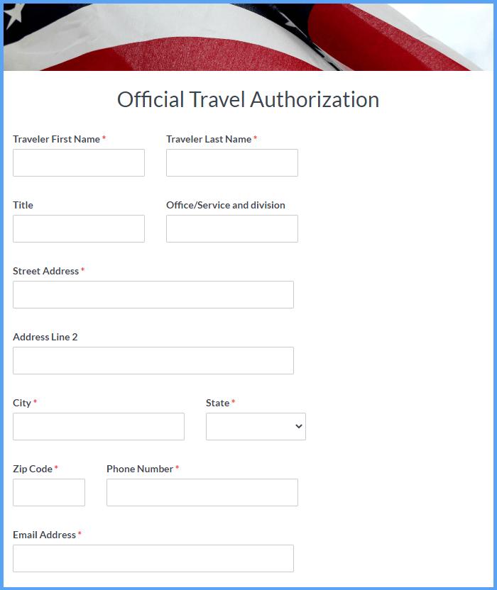 Travel Authorization Templates