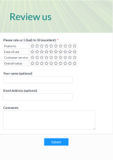 Online Review Form