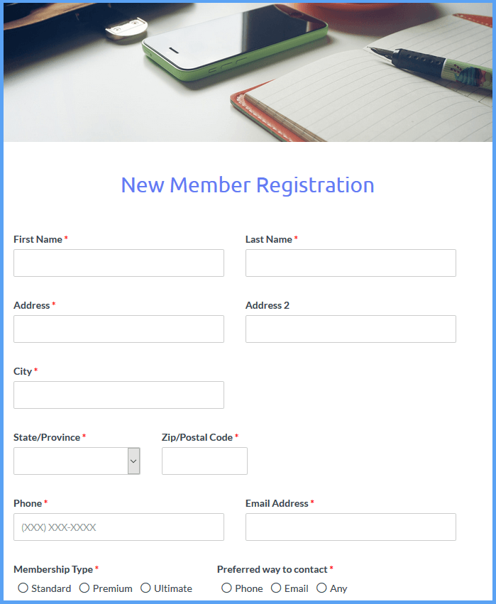 Club Signup Templates