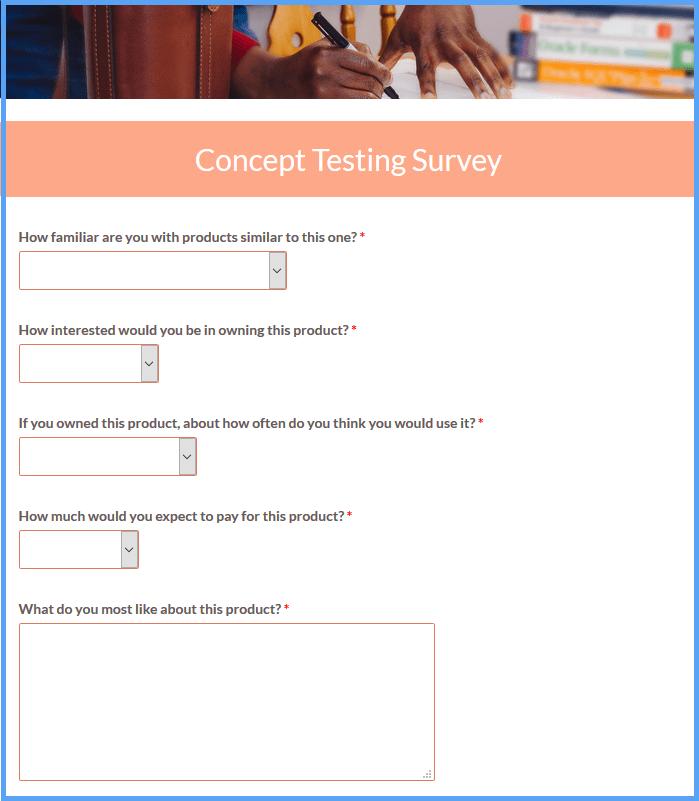 Concept Testing Survey Templates
