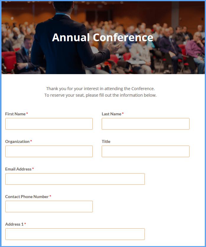 Conference Registration Templates