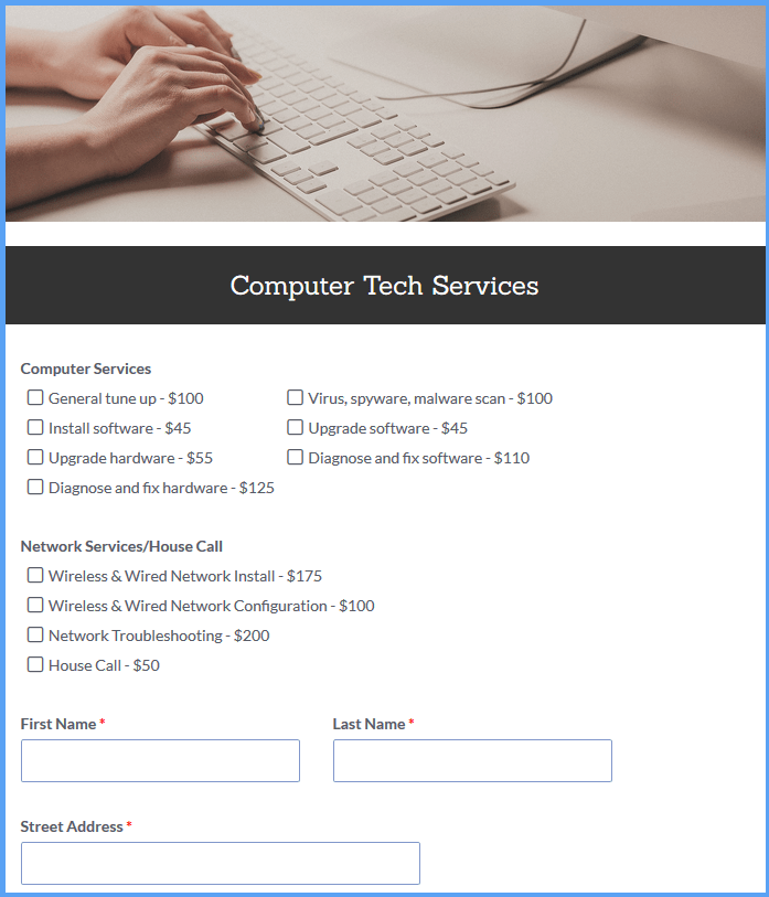 Service Order Templates
