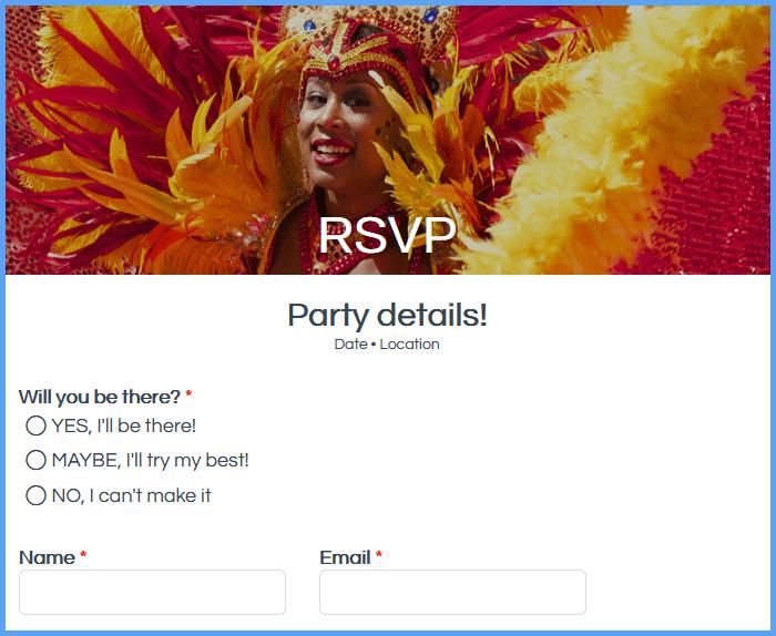 RSVP Forms