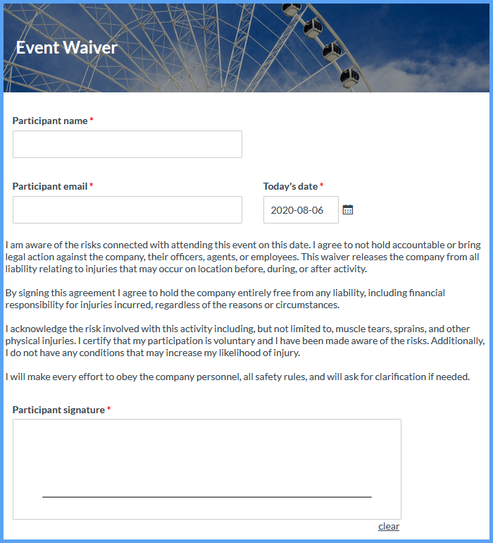 Waiver Forms