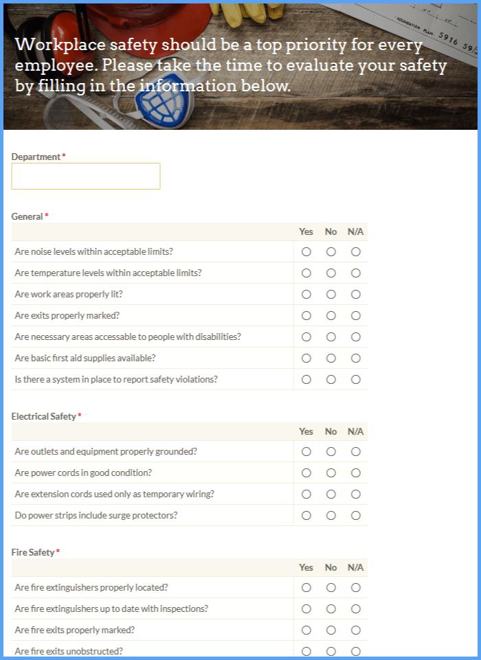 Workplace Safety Surveys