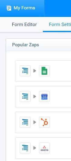 Formsite online events Zapier