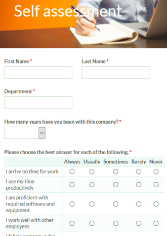 Self Assessment Form Formsite You might be feeling a lot of. self assessment form formsite