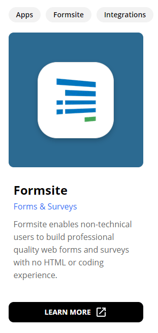 Formsite integrations search zap