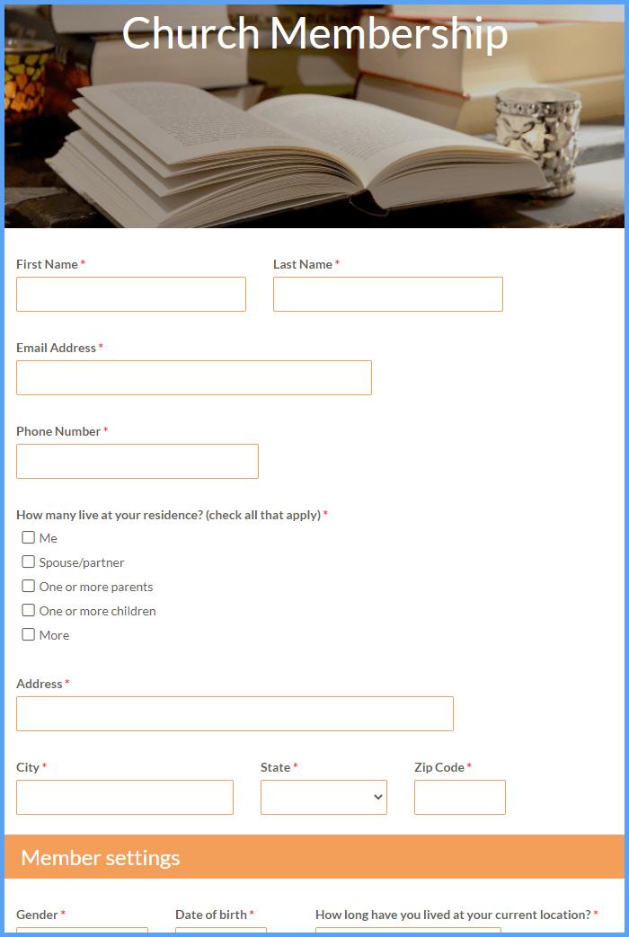 Church Membership Forms
