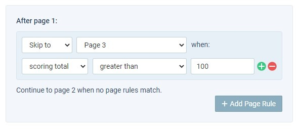 Formsite No-code logic