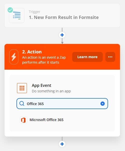 Formsite Office 365 Zap