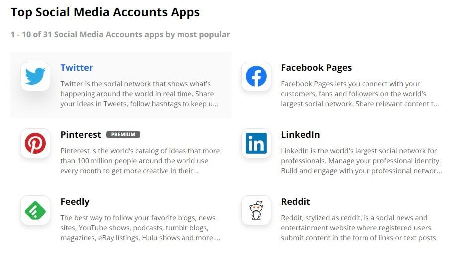 Formsite social media Zapier