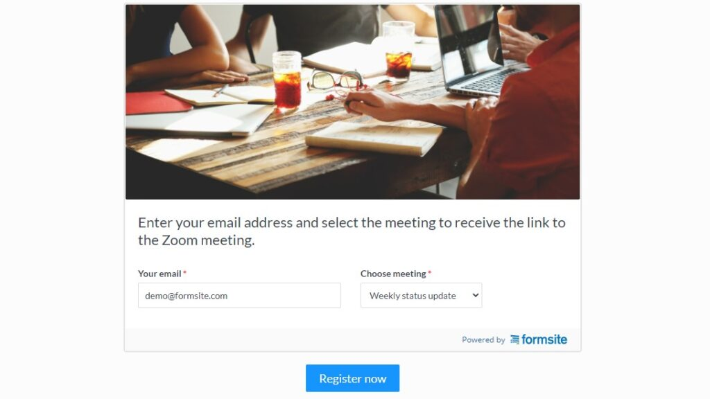 Formsite Zoom meetings