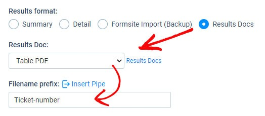 Formsite customize file name settings