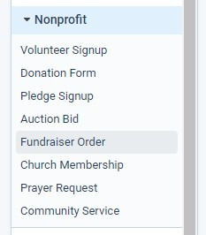 Formsite fundraising template