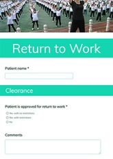 Return to Work Form