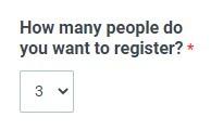Formsite Registration Form quantity