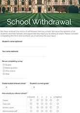 School Withdrawal Form