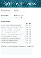 90 Day Review Form