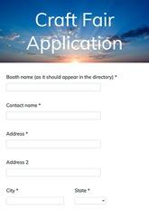 Craft Fair Application Form
