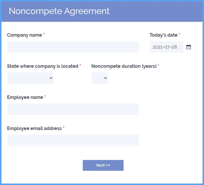 Noncompete Agreement Forms